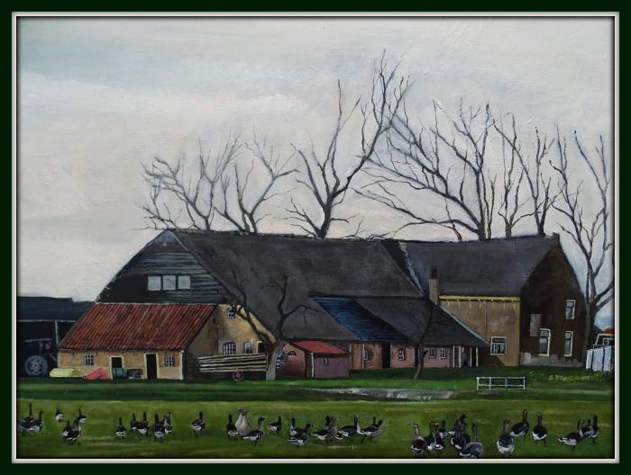 boerderij Waalweg vanuit het Waalbos